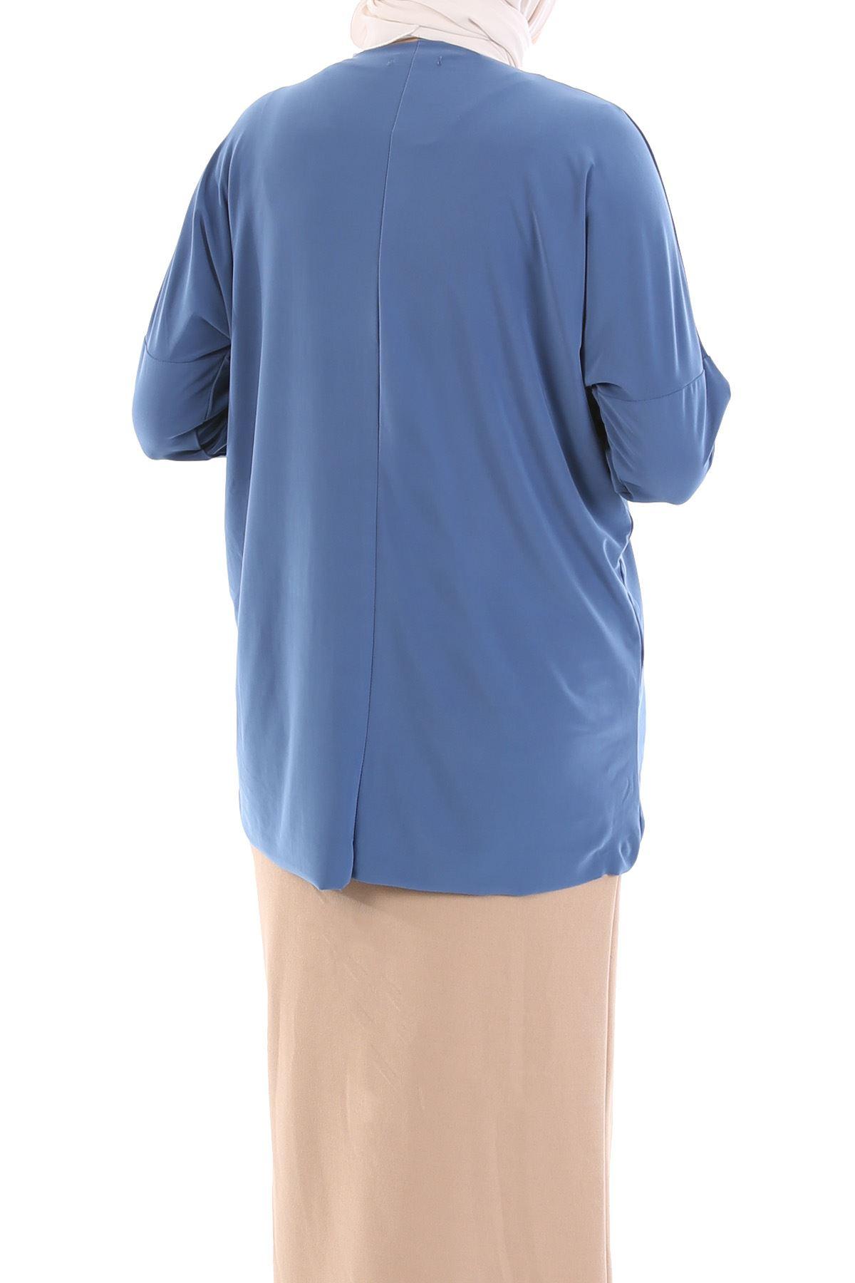 Arka Uzun Bluz jp-İndigo
