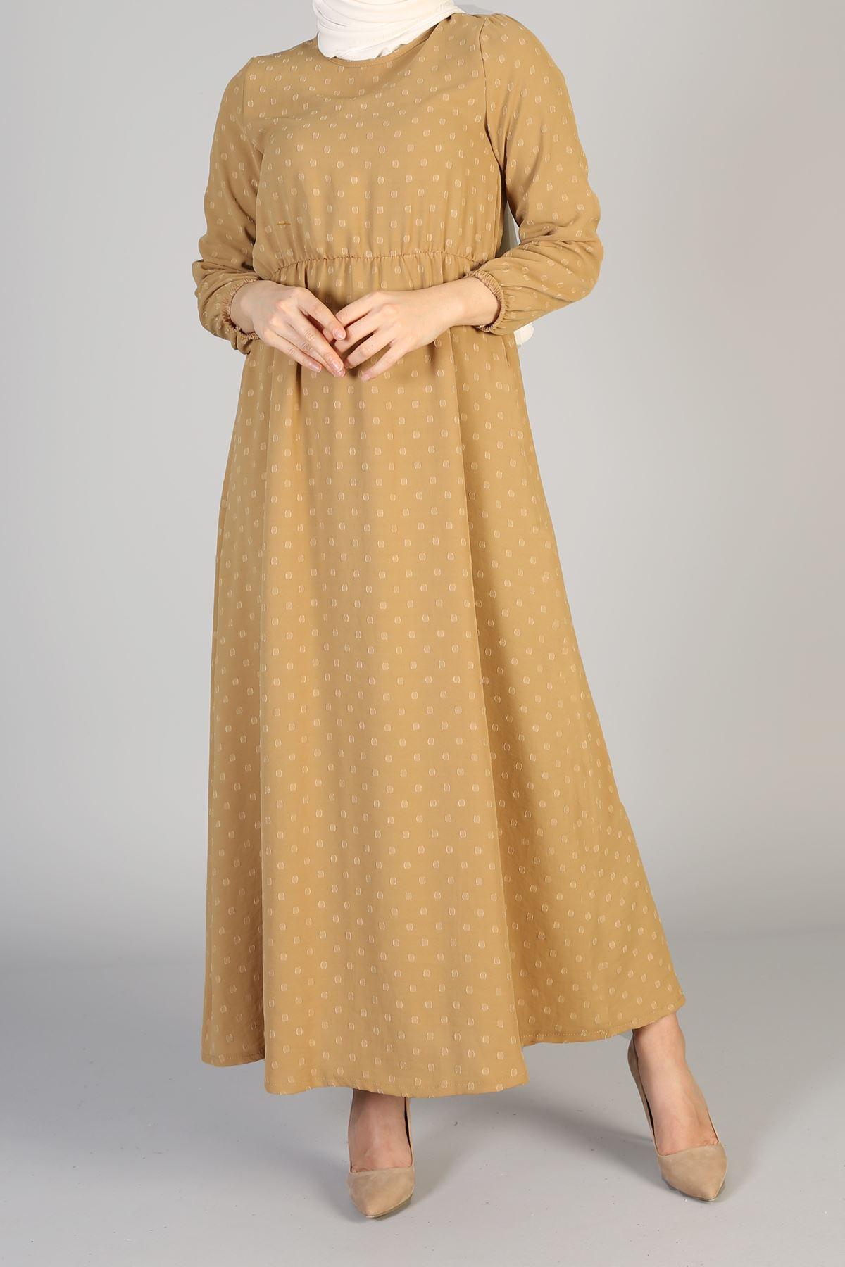 Bel Lastikli Elbise-Tarçın