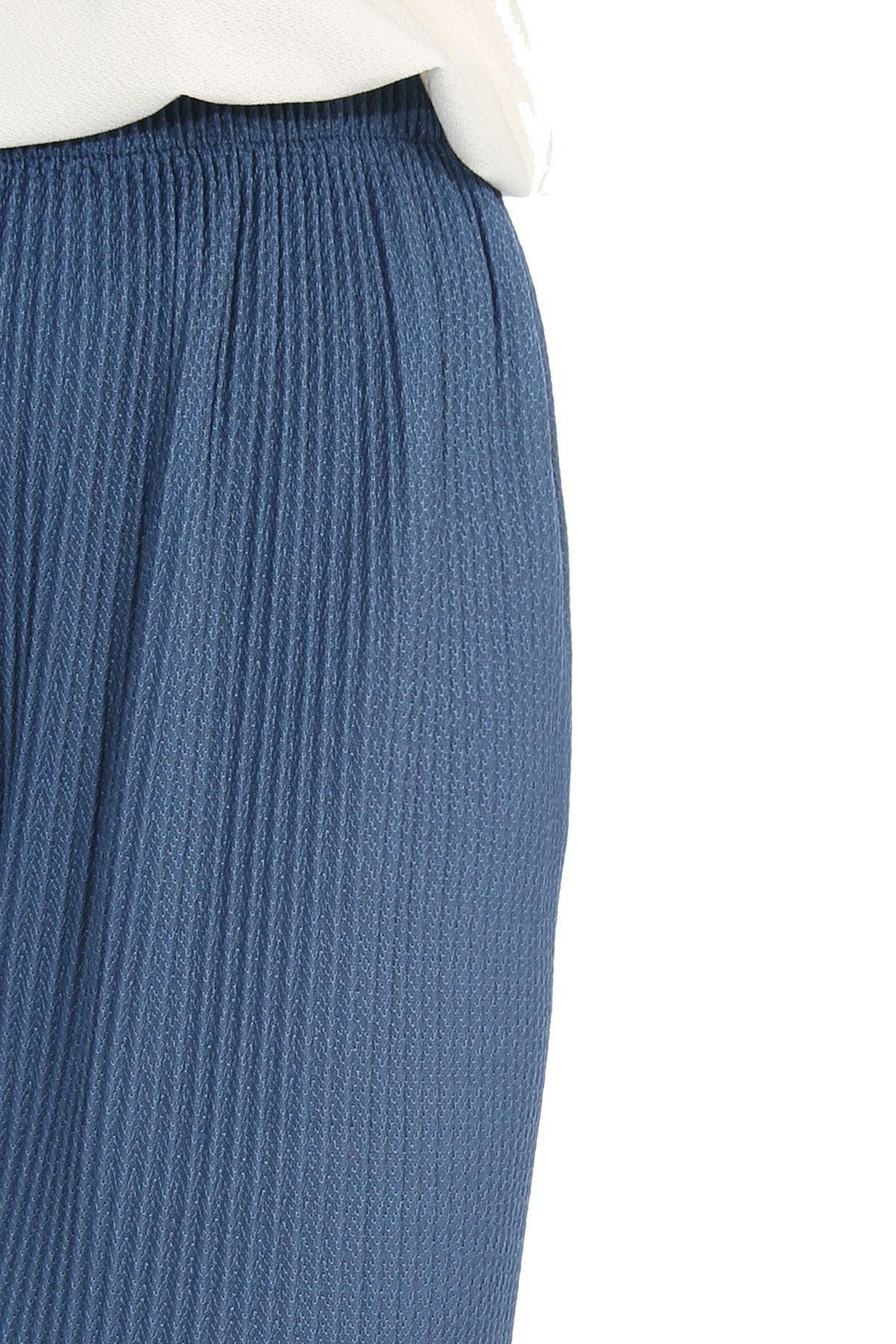 Lastikli Piliseli Pantolon Efl-İndigo