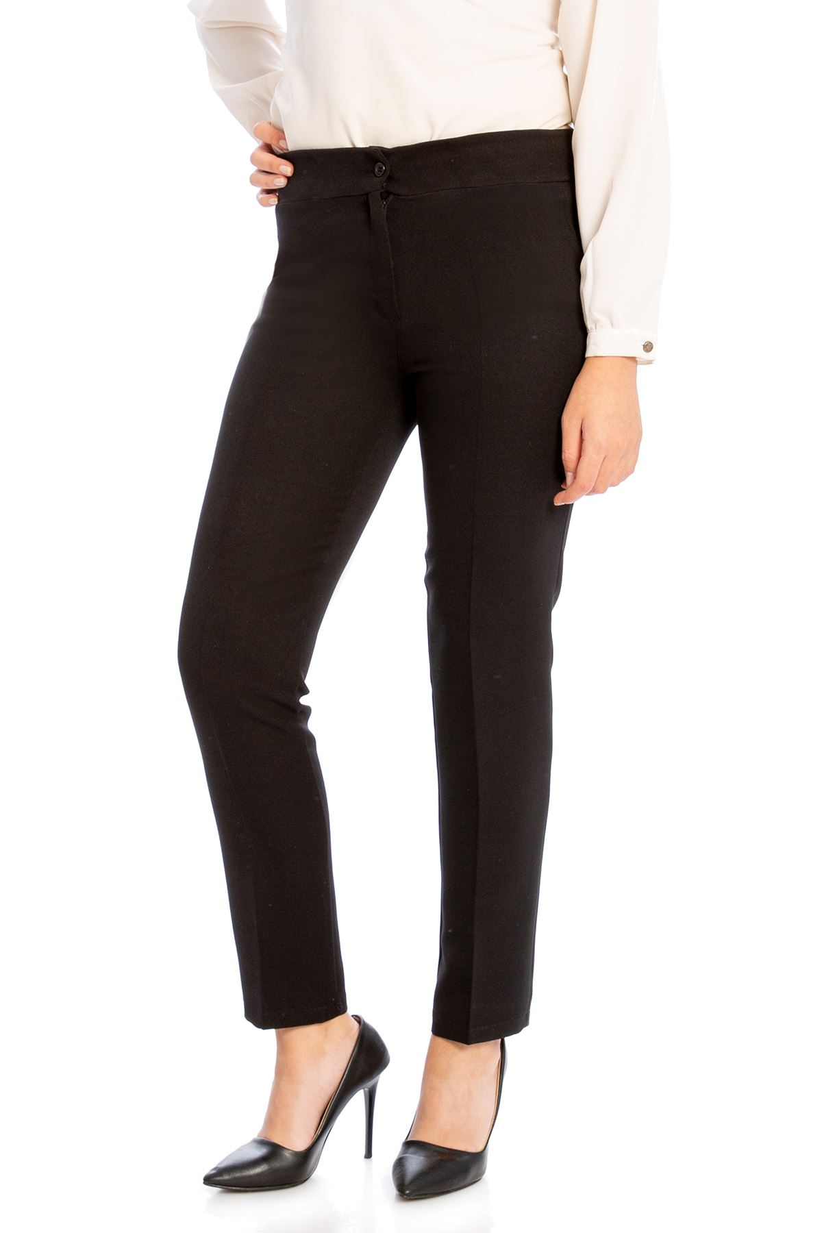 Cep Detay Pantolon-Siyah
