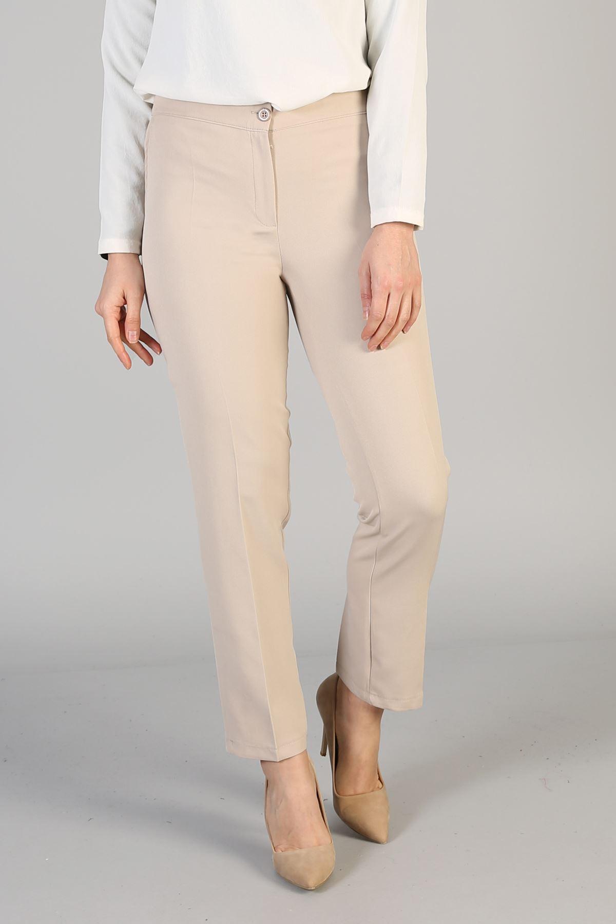 Cep Detay Pantolon-Taş
