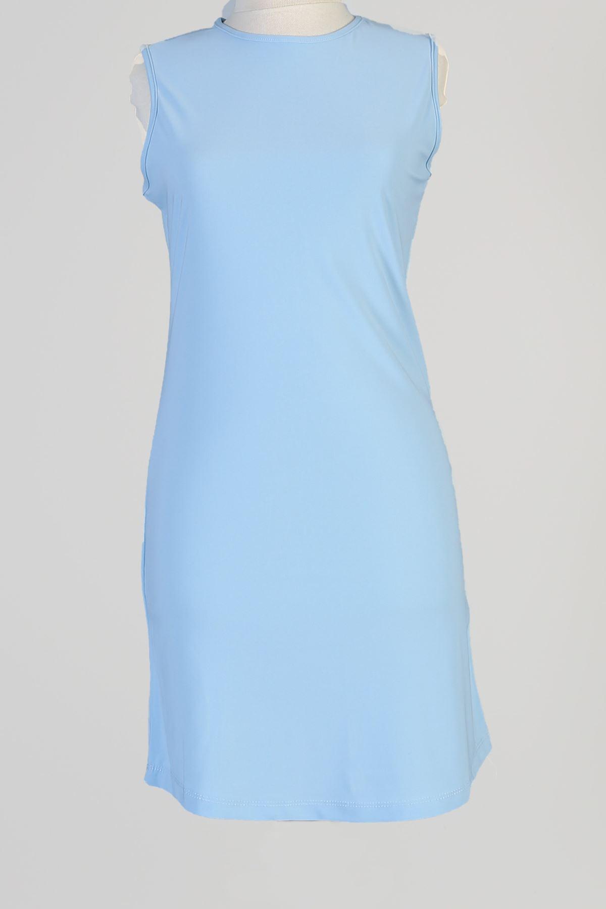 Sıfır Kol Kısa Sendy Tunik-Bebe Mavisi