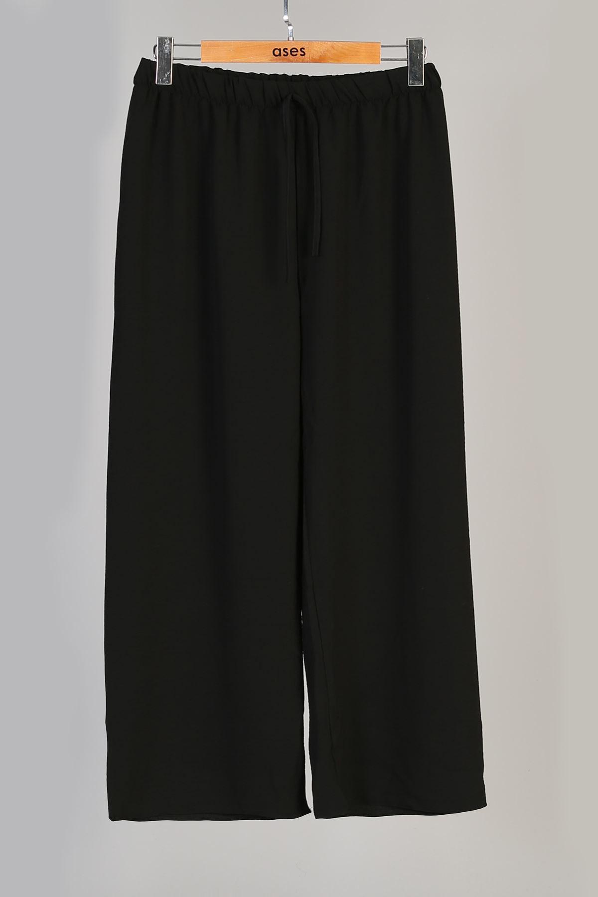 Büyük Beden Aerobin  Pantolon-Siyah