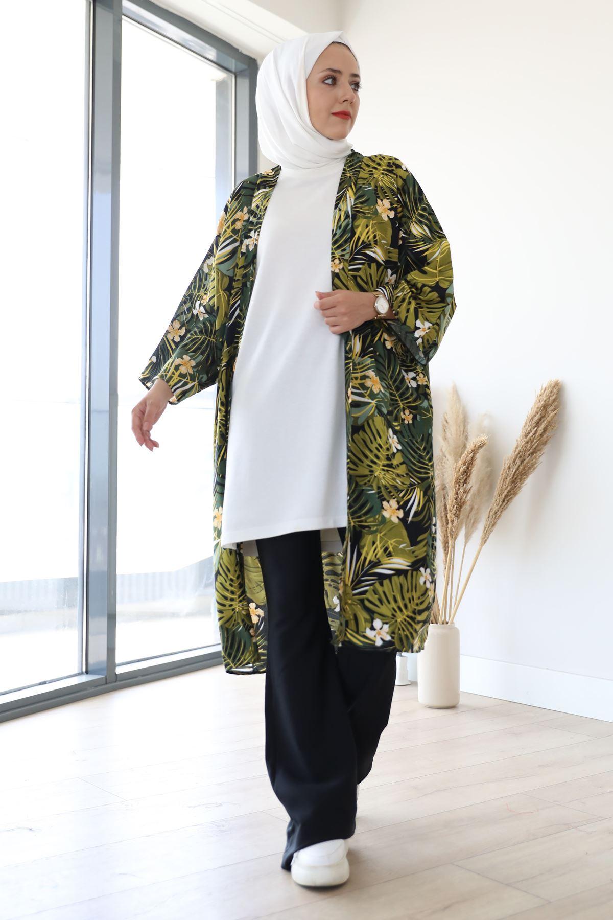 Desenli Kimono-Haki