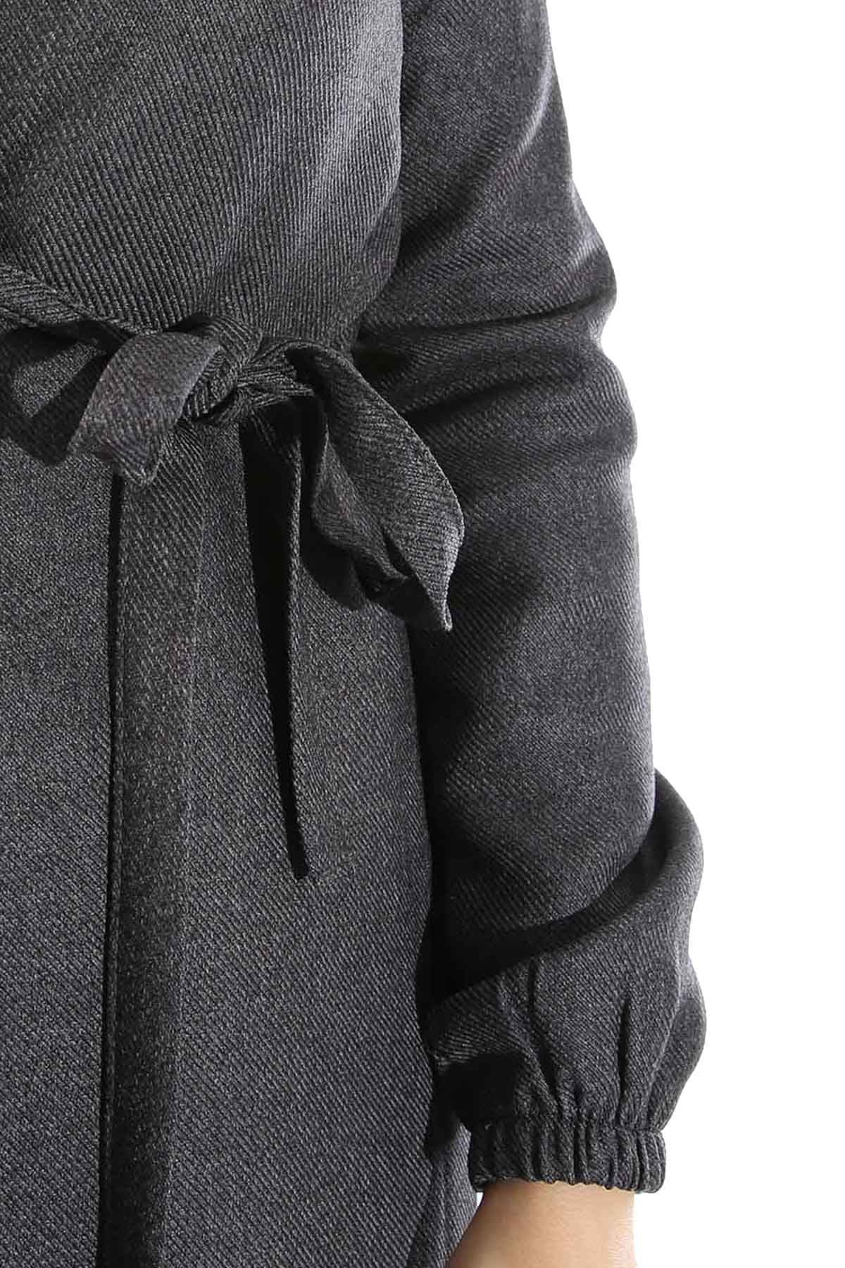 Yandan Bağlamalı Ceket-Antrasit