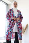 Desenli Kimono-Pembe