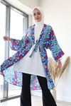 Desenli Kimono-Saks